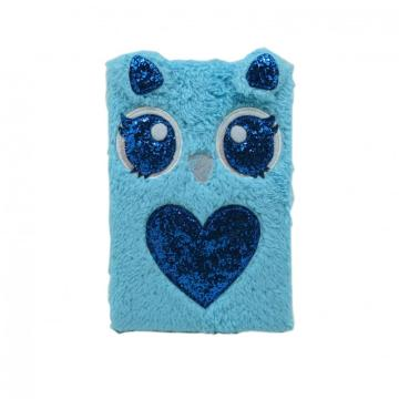 CUTE BLUE PLUSH NOTEBOOK-0