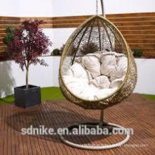 garden indoor hanging Water droplets shaped swing chair+rattan ceiling swing chair+baby swing high chair