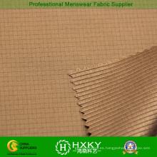 Tela de poliéster de cation con diseño de cuadros para chaqueta acolchada para hombres