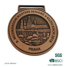 На заказ польские бронзовые медали высокой для случая с лентой