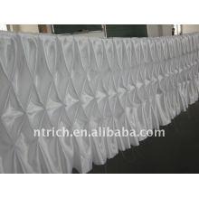 ¡¡¡Fascinante!!! Falda 2012 de la tela / de tabla del satén del color blanco, estilo del panal, diseño de la manera