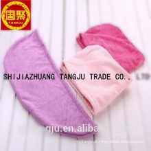 Boa qualidade, melhor venda de algodão hotel touca de banho toalha de secagem de cabelo