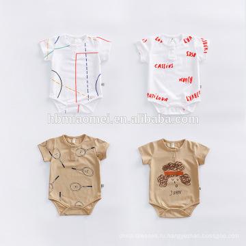 2017 Оптовая Детская Одежда Romper Младенца Младенческой Ползунки Комбинезон