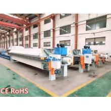 Deshidratación de prensa de filtración de relaves de mina
