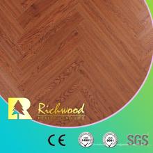 Piso de madera laminado laminado en V-Grooved del vinilo del vinilo de 12.3mm HDF
