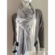 Lady Fashion Grey Cashmere Knitted Scarf (YKY4387-2)