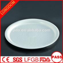 PT fabricante de porcelana flor padrão placa, pratos profundos, pratos redondos