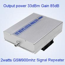 5watts GSM900MHz Мобильный репитер сигнала, 33dBm GSM900MHz сотовый телефон сигнала Booster, GSM / Dcs / WCDMA Широкий трехдиапазонный сигнал ретранслятора / 2g 3G сигнала Booster