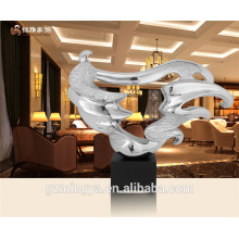 can be customized home decorative high quality interior resin decoration in abstract design