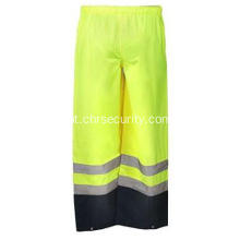 Men's High Visibility Yellow Rain Chants