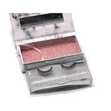 X20T Hitomi Custom Shape Eyelash Box Wholesale Mink Eyelash Strip Clear Band Luxury Real Fluffy 3D Mink Eyelashes