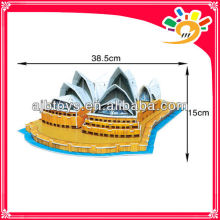 2013 Newest Popular Puzzle 58pcs DIY 3D Puzzle Game SYDNEY OPERA HOUSE Puzzle Building Jigsaw Puzzle For Adults