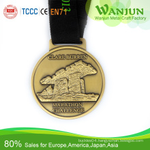 Hot sale epoxy trophy and medal with V neck ribbon