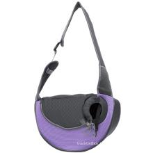 Portable large breathable mesh crossbody pet shoulder bag