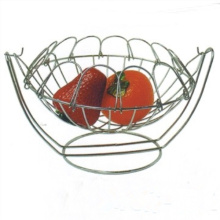 Stainless Steel Wire Mesh Fruit Basket for Storage