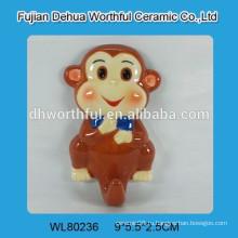 Керамический настенный крюк с дизайном обезьяны