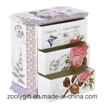 Kundenspezifische Fancy Paper Großhandel Schmuck Geschenkbox mit 3 Schubladen