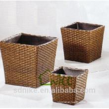 Vase -(17) home & garden furniture wicker/ PE rattan flower pot for garden