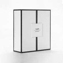 Caixas de papel para embalagem de perfume preto de luxo