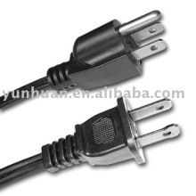 Cordon électrique Ac UL CSA reconnu power câble fil type sjow sjoow 12 * 3 14 * 3 AWG 16 * 3 18 * 3 style de cordage USA