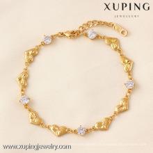 71804 Xuping Fashion Woman pulsera con chapado en oro