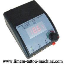 Top LCD DUAL Digital Tattoo Power Supply source + Plug Supply
