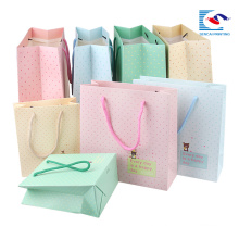custom fancy design craft gift paper bags with logo