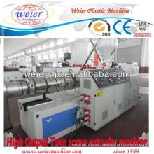 maquinaria de plástico estirador de tornillo gemelo cónico