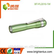 Cheap Wholesale High Quality 1 * AA Battery Colorful Aluminium Matériel Medical Bright Gift Bulk Mini penlight conduit pour les enfants