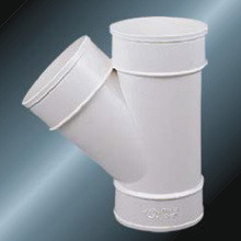 Din Drainage Upvc Y-tee لون رمادي