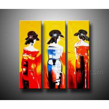 Mão abstrata moderna pintada figura pintura
