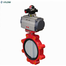 Pneumatic Operator Lug Type Butterfly Valve with EPDM Soft Seat
