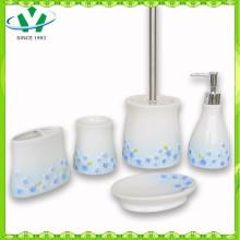 2015 Acessórios de casa de banho cerâmica quente com flor azul Sinensis