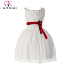 Grace Karin Popular Style of Princess White Flower Girls Dresses For Wedding CL4609
