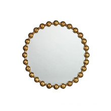 Hot Sales New Round Ball Chain Framed Mirror in Antique Gold Brass Finish for Fashion Wall Decoration