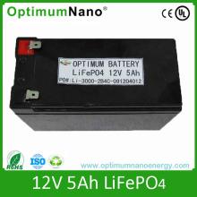 Batterie rechargeable 12V 5ah LiFePO4 pour lampe de poche