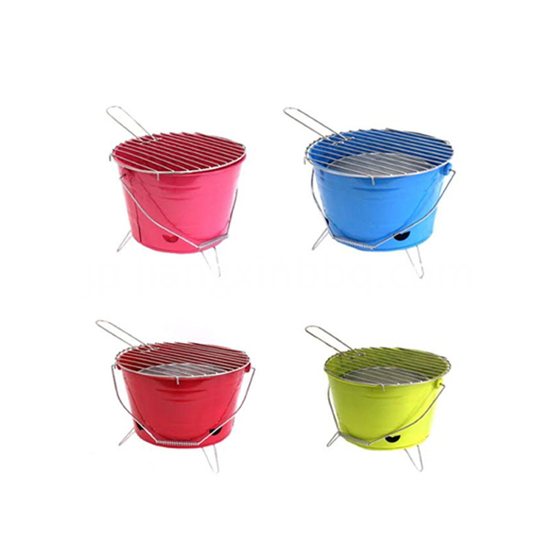Bucket Charcoal Grill with 4 Colors