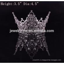 Новый металл способа прибытия серебряный покрыл большие торжественные полные круглые диамантовые коронки для сбывания