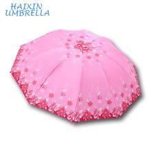 Бангладеш большой рынок горячий продавать Сатин 10К складной зонтик низкая стоимость 388 Бренд Тиан Тан Мэй