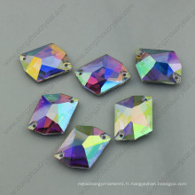 Ab pierres lâches dos plat en cristal pierres (DZ-3070)