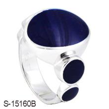 El último diseño de la plata esterlina 925 coció al horno el anillo del hombre del esmalte.