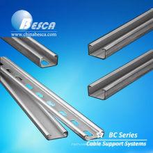 Canal de puntal de acero estándar de Unistrut en tamaño 1-5 / 8 '' x 13/16 '' (UL, cUL, CE, IEC, NEMA)