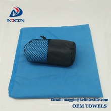 80 polyester 20 polyamide 70x150cm microfiber suede towel for outdoor sports