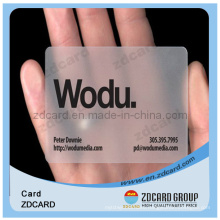 Clear Business Name Card/Transparent Gift Card