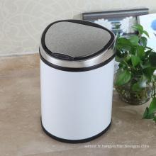 White Style Creative Aotomatic Sensor Poubelle pour maison (D-12LD)