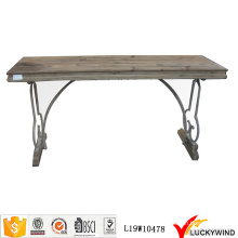 Деревенский ретро деревянный стол для старинной эстакады