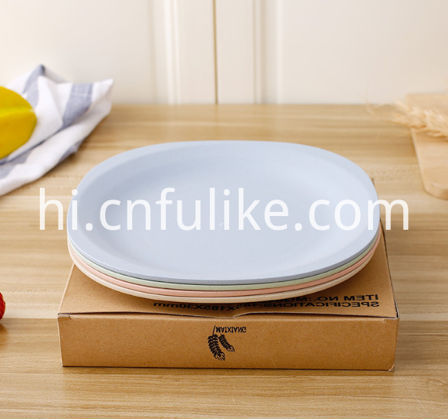 Wheat Straw Plastic Plate