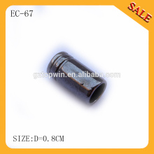 EC67 Wholesale hollow out cord toggle fasteners,gun metal spring end lock stopper