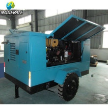 Portable diesel compressor machine