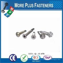 "Taiwán # 12-24 x 2 ""Hex Unslotted Drive Hex lavadora cabeza final 5 punto Bi Metal autoperforación tornillo"